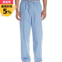 NAUTICA 2018男時尚舒適法藍色格子長睡褲