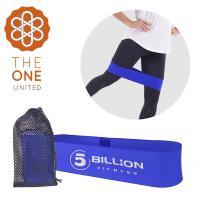 The One 瑜珈健身 寬版針織阻力帶/彈力帶(中階藍)45磅