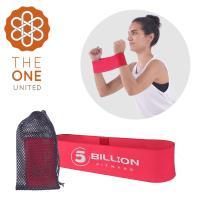 The One 瑜珈健身 寬版針織阻力帶/彈力帶(入門紅)35磅