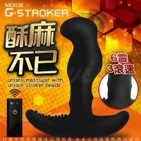 英國NEXUS G-Stroker 6震+3滾速 無線遙控 G點前列腺旋轉按摩棒-黑 (磁吸式充電型)