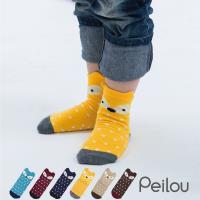 PEILOU 貝柔趣味萊卡止滑兒童短襪 6雙組 (6款可選)
