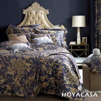 HOYA歐風經典 加大六件式300織長纖細棉兩用被床包組+贈羽絲絨被一入-型(網)