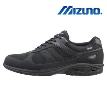 【MIZUNO 美津濃】LD AROUND M GORTEX 寬楦 健走鞋 休閒鞋 男 黑(B1GC182609)