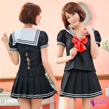 Sexy Cynthia 角色扮演 純愛水手服學生制服角色扮演服三件組