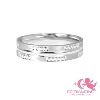 【CC DIAMOND】義大利18K金戒指 對戒系列 雪花女戒