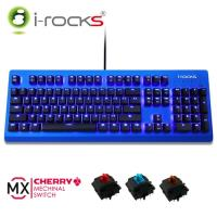 i-Rocks IRK65MS 單色背光機械式鍵盤-藍蓋