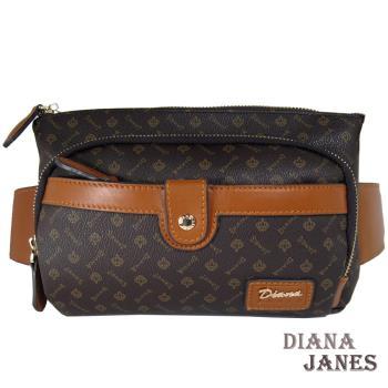 包包Diana Janes 黛安娜-晶鑽 LOGO多層腰包