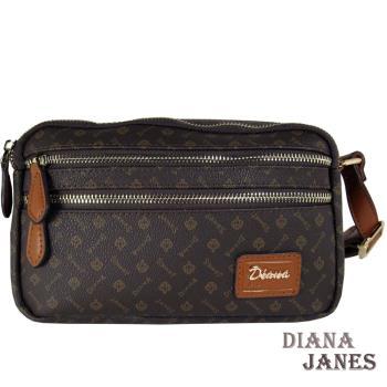 包包Diana Janes 黛安娜-晶鑽 LOGO多層收納斜揹包