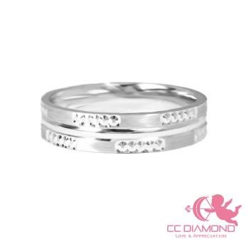 【CC DIAMOND】義大利18K金戒指 對戒系列 雪花男戒