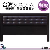 (RB)歡欣水鑽靠墊木質床頭片-加大6呎