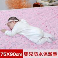 米夢家居-全方位超防水止滑保潔墊.生理墊.尿布墊-嬰兒寵物用75x90cm-粉紅城堡