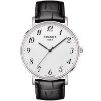 TISSOT 天梭 Everytime 雋永明朗大三針腕錶(銀x黑/42mm) T1096101603200