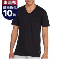 Ralph Lauren 男時尚馬球黑色短袖V領內衣3件組
