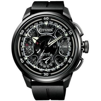 CITIZEN星辰 光動能鈦金屬 GPS定位對時衛星錶(黑/48.5mm) CC7005-16F