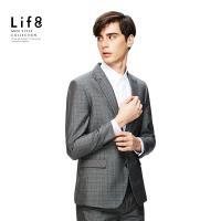 Life8-Formal 千鳥織格紋 修身西裝外套-11167