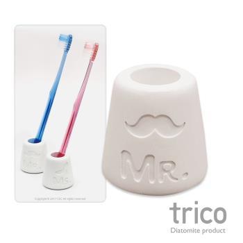 (兩入)日本Trico 幸福點點名珪藻土牙刷架(Ms)