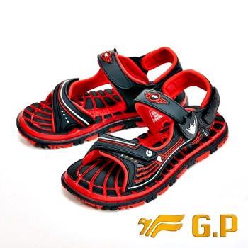 【G.P】快樂童鞋-磁扣兩用涼鞋-紅(另有藍)