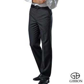 GIBBON 涼感吸排平口西裝褲‧夜藍
