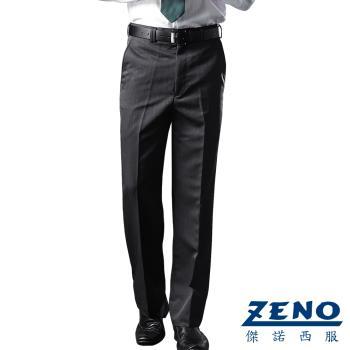 ZENO傑諾 涼感透氣平面西裝褲‧黑條紋