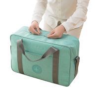 PUSH!旅遊用品可固定套在拉杆箱上防水手提行李包挎肩背包便攜行李收納包蒂芬妮藍色S53-2