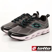 Lotto樂得-減震彈力運動鞋-SI638灰綠(男段)