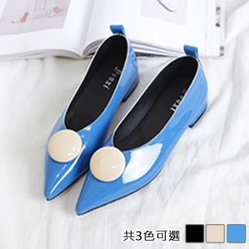Alice (預購) 優雅好感輕著尖頭平底鞋