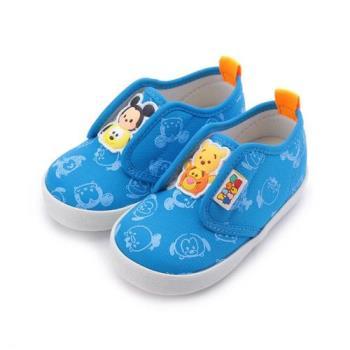DISNEY TSUM TSUM 雙魔鬼氈寶寶鞋 藍 中小童鞋 鞋全家福