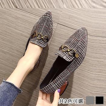 Alice (預購) 優雅俐落優雅尖頭粗跟鞋
