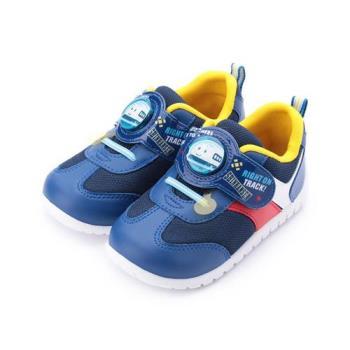新幹線 魔鬼氈電燈運動鞋 藍 中小童鞋 鞋全家福