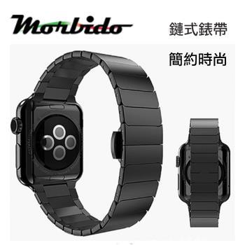 Morbido蒙彼多 Apple Watch 44mm鍊式不鏽鋼錶帶(黑色)