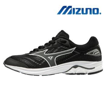 【MIZUNO 美津濃】WAVE RIDER 22JR 大童 女 慢跑鞋 黑(K1GC183361)