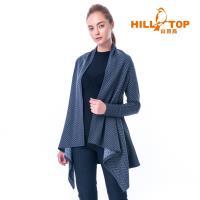 【hilltop山頂鳥】女款保暖緹花刷毛外套H22FU4黑灰