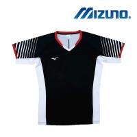 【MIZUNO 美津濃】男女短袖排球T恤 黑白紅(V2TA8G1809)