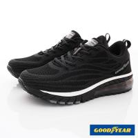 GOODYEAR-飛織氣墊動能跑鞋-EI3370黑(男段)