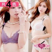 天使霓裳 超薄半透性感成套內衣A-D罩杯(共四色32~36) JY10