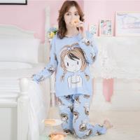 lingling日系 辮子娃娃牛奶絲二件式睡衣組(共二色,全尺碼)全尺碼lingling日系