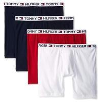 Tommy Hilfiger 2018男時尚黑紅白色混搭四角修飾內著4件組