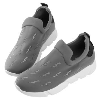 Robinlo 俏皮閃電襪子休閒鞋 BLYTHE-灰色
