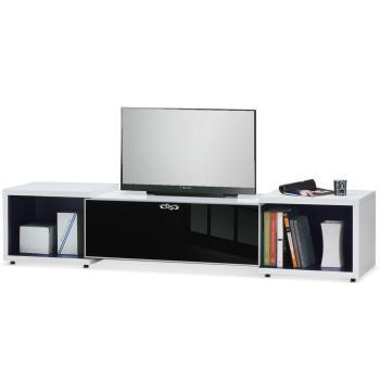 MY傢俬 家居黑白色多功能伸縮7尺電視櫃
