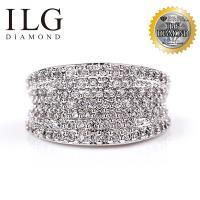 【頂級美國ILG鑽飾】八心八箭戒指 - 耀眼你心款 經典密鑽設計 RI072 寬版中性密鑽雜誌款 媲美真鑽亮度