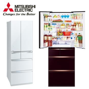 三菱 MITSUBISHI 日本原裝 一級能效 525公升變頻六門玻璃鏡面電冰箱MR-WX53C