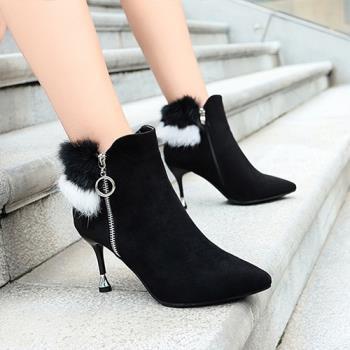 Alice (預購) 韓時尚手作細跟短筒靴