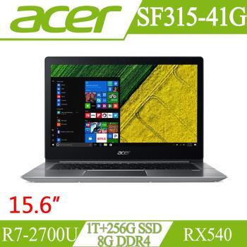 Acer宏碁 Swift 3 輕薄效能筆電 SF315-41G-R8J7 15.6吋/R7-2700U/8G/1T+256G SSD/RX540