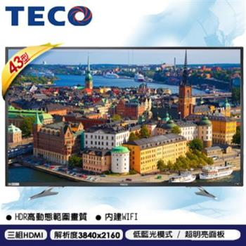 TECO東元 43吋 真4K Smart連網 液晶電視 TL43U1TRE-福利品
