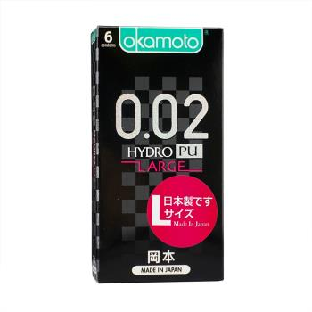 ★加送一枚★岡本-002HYDRO 水性聚氨酯加大碼保險套(6入)