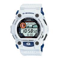 【CASIO 卡西歐】G-SHOCK經典限量藍白大錶徑 防撞設計時尚腕錶 GD-400DN(G-7900A-7)