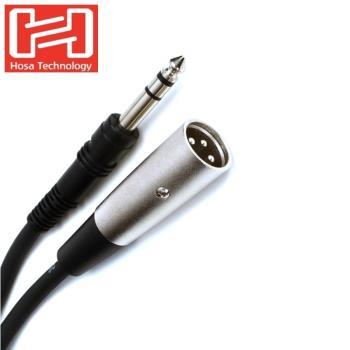 美國Hosa Technology麥克風音訊線音源線STX-103M(長3英呎,將TRS母6.3mm即1/4吋轉成3PIN公XLR-M)樂器線吉他線