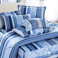 BUTTERFLY-台製40支紗純棉-薄式加大雙人床包被套四件組-少女時代-灰
