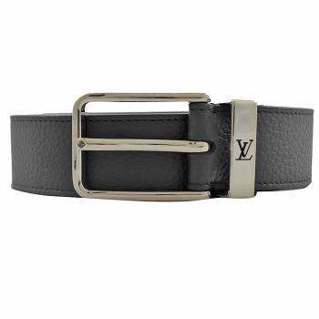 Louis Vuitton LV M6065V PONT NEUF 牛皮扣式皮帶.黑 85CM 現貨