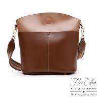DF Flor Eden - 簡約韓式牛皮水桶包-共2色